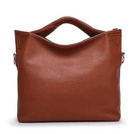 Mefly Grande capacità di moda borsetta blu brown