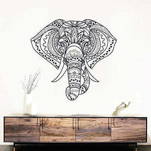 pegatinas de pared Religión mandala elefante para sala de estar decoración de la casa animales decoración del hogar