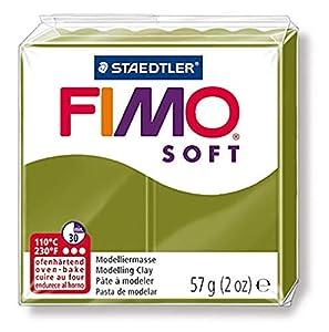 FIMO Staedtler 8020-57. Pasta para modelar de Color Verde Oliva Soft. Caja con 1 Pastilla de 57 Gramos.