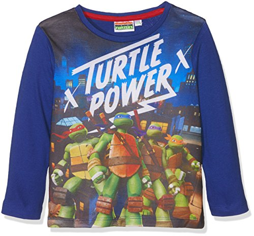 Nickelodeon Jungen T-Shirt Ninja Turtles Power Blau, 5-6 Jahre (Ninja Turtles Blue)