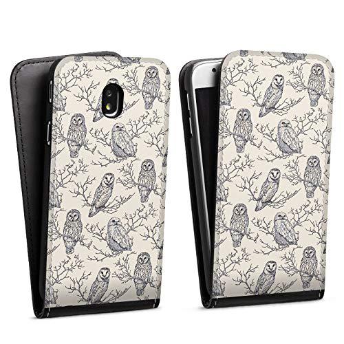 DeinDesign Flip Case kompatibel mit Samsung Galaxy J7 2017 Tasche Hülle Eulen Forest Wald