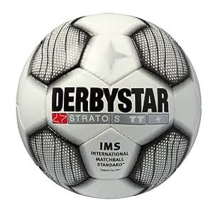 Derbystar Ballon de football Stratos TT Blanc noir 3