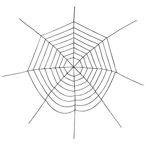 Halloween Party Decorations Huge 12 Foot Chenille Spider Web by Rhode Island Novelty