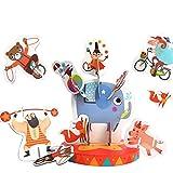 DYMAS Giocattolo Intellettuale Bambini equilibrio accatastamento Circus tridimensionale Puzzle degli animali