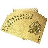 Naipes Poker Plástico, Baraja De Cartas De Póker, Juego De Mesa De Plástico Impermeable con Lámina De Oro Poker Poker Mágico