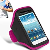 HOT PINK ADJUSTABLE ARMBAND GYM RUNNING JOGGING SPORTS CASE COVER HOLDER FOR APPLE IPHONE 4/4S FROM GB ONLINE SALES - FREE UK DELIVERY
