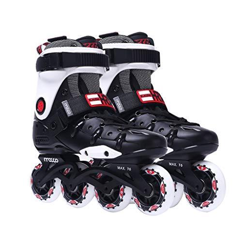 CHEXIAOlbx Erwachsener Damen and Herren Im Freien Professionell Inline Skates (Color : Black, Size : EU 36/US 4.5/UK 3.5/JP 23cm)