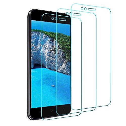 Vivicool Protector Pantalla Xiaomi Mi A1 / Mi 5X, Cristal Templado Xiaomi Mi A1 / Mi 5X -Alta Sensibilidad-Arañazos Resistente -Alta Definición -3D Cobertura Completa de Vidrio Templado Xiaomi Mi A1 / Mi 5X [3 paquetes]