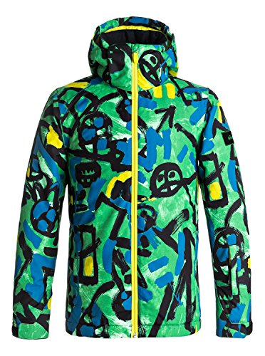 Quiksilver Mission - Snow Jacket - Snow Jacke - Jungen - Grün (Quiksilver Jungen Snowboard Jacke)