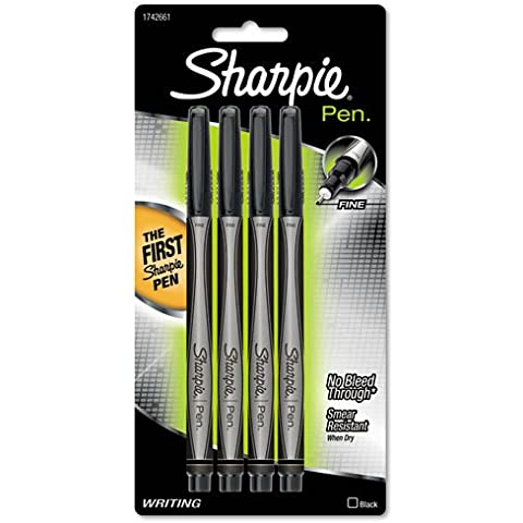 Sharpie Pen - Pluma estilográficas (Negro, Gris)
