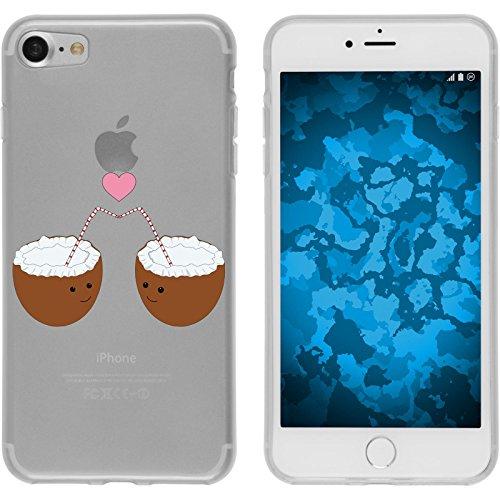 PhoneNatic Apple iPhone 8 Custodia in Silicone estate M5 Case iPhone 8 + pellicola protettiva Motivo:03