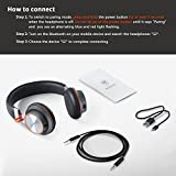 NUBWO S2 V4.1 Bluetooth Wireless Headset On-ear HiFi Stereo Headphones with Microphone for Smartphones, Tablets, Laptops & PC - Black