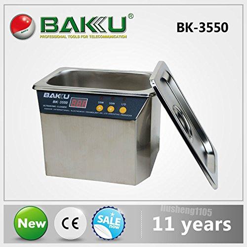 220v-stainless-steel-ultrasonic-cleaner-35w-50w-power-baku-bk-3550-for-communications-equipment