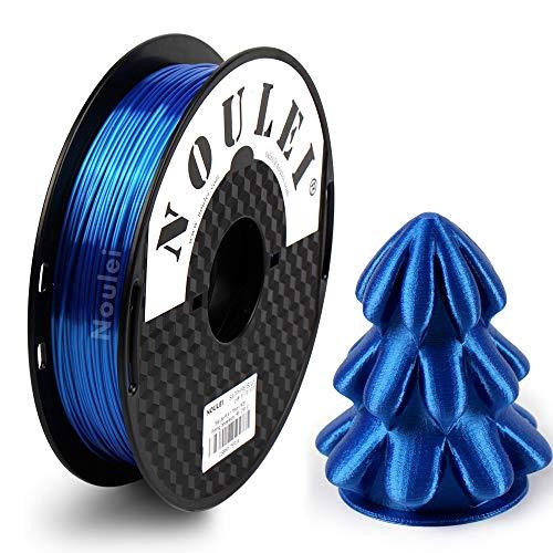 Noulei Shiny PLA Filament 1.75mm Silk Sapphire Blue, 3d Drucker printer Filament PLA 500g Spool