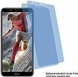 2x Crystal clear klar Schutzfolie für Huawei Y6 Prime 2018 Displayschutzfolie Bildschirmschutzfolie Schutzhülle Displayschutz Displayfolie Folie