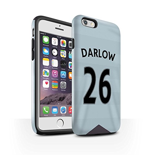 Offiziell Newcastle United FC Hülle / Glanz Harten Stoßfest Case für Apple iPhone 6 / Pack 29pcs Muster / NUFC Trikot Away 15/16 Kollektion Darlow