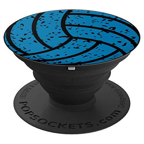 Blue Volleyball Distressed Varsity League Vereinsspieler - PopSockets Ausziehbarer Sockel und Griff für Smartphones und Tablets