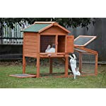 BUNNY BUSINESS Rabbit Hutch with Integrated Run and Enclosure, Rabbit Hutches Rabbit Runs 140 x 65 x 100 cm (COVER ONLY) 10
