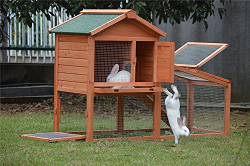 BUNNY BUSINESS Rabbit Hutch with Integrated Run and Enclosure, Rabbit Hutches Rabbit Runs 140 x 65 x 100 cm (COVER ONLY) 4
