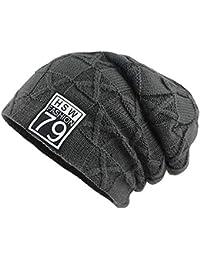6ef503713b32 Envoi gratuit Kobay Hiver Plus Velvet Warm Bonnet Tricoté Chapeau Laine  Chapeaux Hommes Extérieur