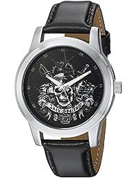 Disney Men's 'Pirates' Quartz Metal Casual Watch, Color:Black (Model: WDS000377)