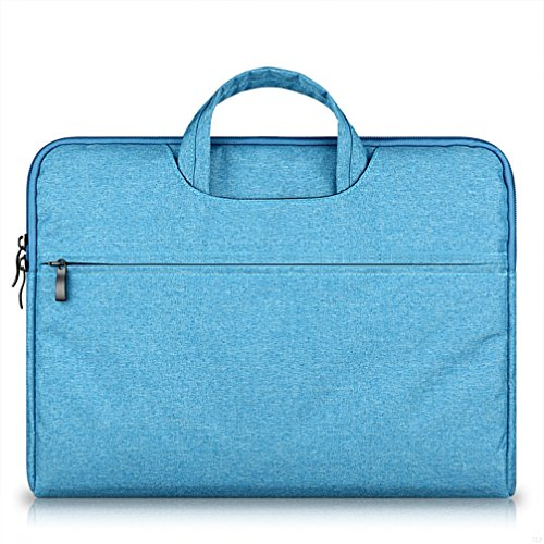 G7Explorer Water-resistant Laptop Sleeve Case Bag Portable Computer handbag For Macbook Pro Air and other Notebooks 15.6 inches Blue