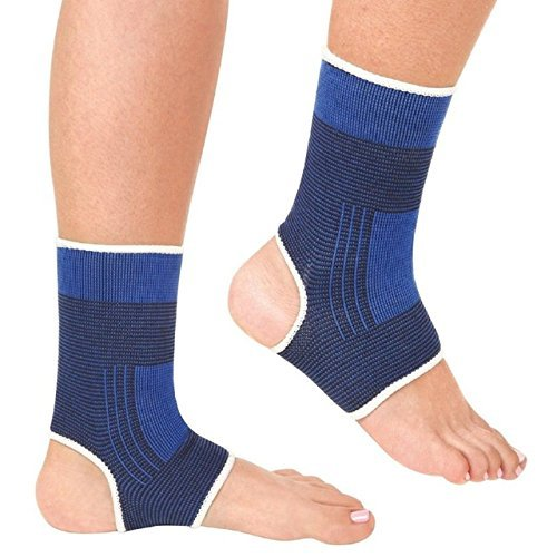DREAM XPLORE 2pc Ankle Support Braces Foot Heel Protector Sports Guard Strain Pain Relief Compatible With surgical and Sports Activity Like Hockey, Bike, Crossfit and Provides Relif fro Ankle  available at amazon for Rs.199