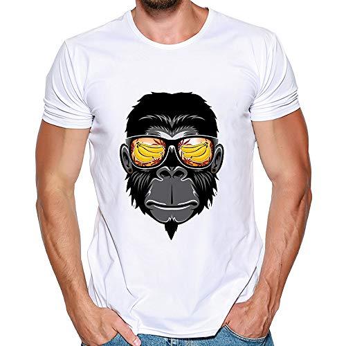 feiXIANG Magliette Maniche Corta Estate T Shirt con Stampa Divertenti Casual Collo Rotondo Maglietta Camicia di Moda Maglia Slim Fit Sportive Top