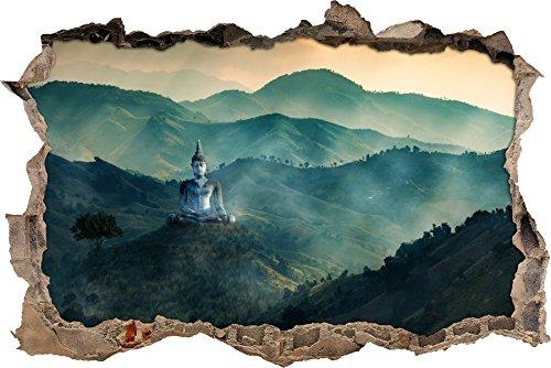 Buddha Bild im Tal der Dunkelheit Wanddurchbruch im 3D-Look, Wand- oder Türaufkleber, Wandsticker, Wandtattoo, Wanddekoration