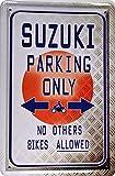 Plaque de 20x 30cm Meta pour voiture Suzuki Parking Only Sign XP70