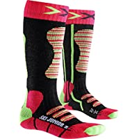 X-Socks Ski, Calze Bambino, Corallo/Verde, 31/34