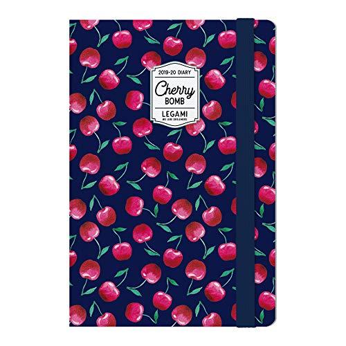 Medium  photo weekly diary with notebook 18 mesi 2019/2020 - cherry bomb