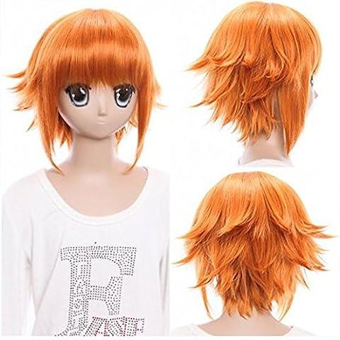 XNWP-Pelucas nuevo muelle COS Idol fantasy ofreciendo star Ang fluyendo naranja corta primavera cosplay pelucas