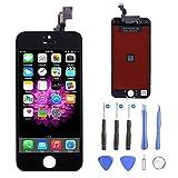 Écran LCD Display pour iPhone 5S/SE,OUKER Écran Tactile Retina Display Complet avec Outils de Réparation pour iPhone 5S/SE(Noir)
