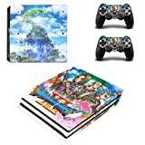 CIVIQ Dragon Quest XI PS4 Pro Skin Sticker Decal for Sony PS4 Playstation 4 Pro Console and 2 Controllers Skin Stickers Vinyl