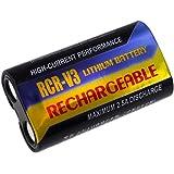 batterie compatible pour Pentax K100D, Li-Fe, 1100mAh, 3V, 3,3Wh, noir