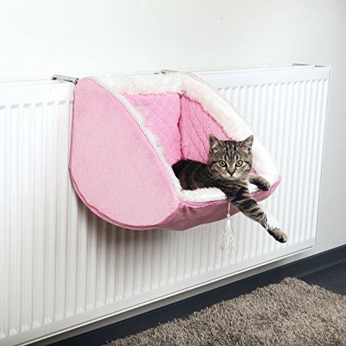 katzeninfo24.de Cat Princess Katzen Liegemulde für Heizkörper, 38 × 30 × 38 cm, rosa