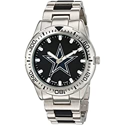 Game Time Men's 'Heavy Hitter' Quartz Metal and Alloy Automatic Watch, Color:Silver-Toned (Model: NFL-HH-DAL)