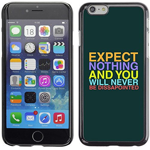 Graphic4You Be Fearful Of Mediocrity Englisch Zitat Nachricht Harte Hülle Case Tasche Schutzhülle für Apple iPhone 6 Plus / 6S Plus Design #8