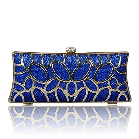 Ecosusi Noble Sequin Womens Evening shoulder bag Wedding Clutch Bag Blue