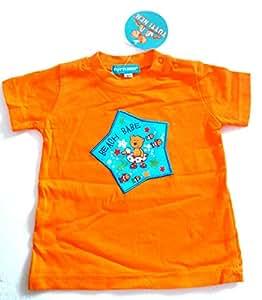 Vêtements Enfant Bébé - T-Shirt Orange - Etoile Ourson Canard - 12 mois