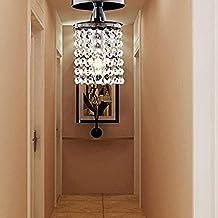 aolight lmpara de techo cristal moderna de pieza lmpara de entrada cristal simple lmpara de