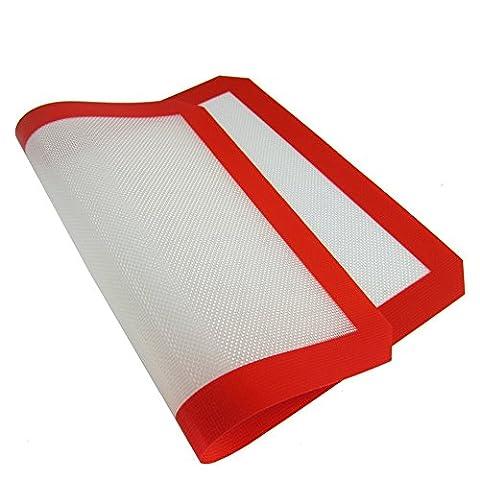 Haosen 2 Stücke / Satz 40 * 30cm Silikon backmatte Hoch temperatur beständige Glasfaser Kieselgelkissen Kneten Sie die Oberfläche Pad silikonmatte backen - Saubere umweltfreundliche Kochen