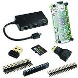 MakerSpot 8-in-1 Raspberry Pi Zero W Mega Starter Pack - Starter Kit (Pi Zero Board NICHT enthalten) WLAN-Dongle, USB-OTG-HUB, SD Micro Karte, Pin Header, HDMI-Adapter, Pi Zero Schutzgehäuse (8-in-1 Mega Pack)