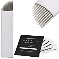 Microblading Blades 21 Pin 0.20mm Nano Flexi Eyebrow Tattoo Disposable Needles CRYSTALUM (20 Blades)