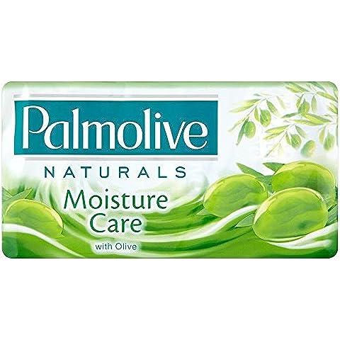 Palmolive Una Barra De Jabón Cuidado De Humedad Naturales Con Aceite De Oliva (3X90g) (Paquete de 6)