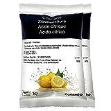 Ácido Cítrico 1 kg (2x500g), La Mejor Calidad Alimentaria. NortemBio. Producto CE.