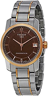 tissot Women's Brown Dial Titanium Band automatic Watch - T087.207.55.29