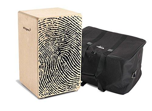 """Schlagwerk CP 107 Cajon X-One""""Fingerprint"""" SET inkl. Tasche (Trommelkiste, Percussion, Kistentrommel, Material: Birke, inkl. Gigbag)"""