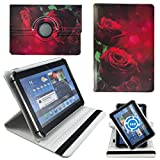 ROSEN Blumen Herz Tablet Tasche Schutz Etui Hülle für 10 Zoll Jay-Tech / CANOX Tablet PC 101
